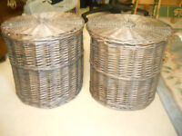 Two Wicker Storage Baskets