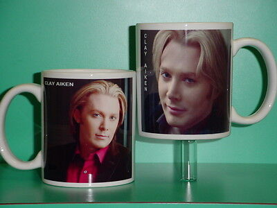 CLAY AIKEN - with 2 Photos - Designer Collectible GIFT Mug 06