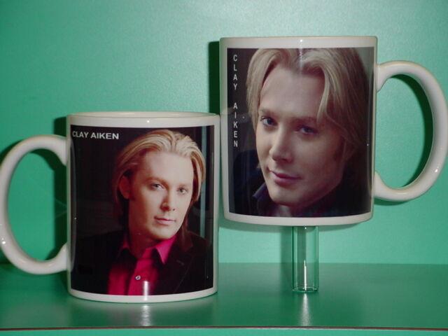 CLAY AIKEN - with 2 Photos - Designer Collectible GIFT Mug 06