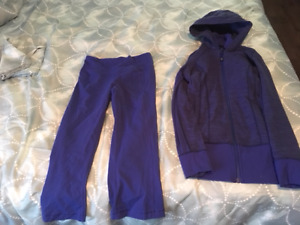 Lululemon Size 2 Capri and hoodie set