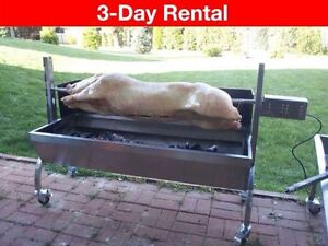 Rental BBQ, Rotisserie Spit & Caja China - Roast a pig or lamb!