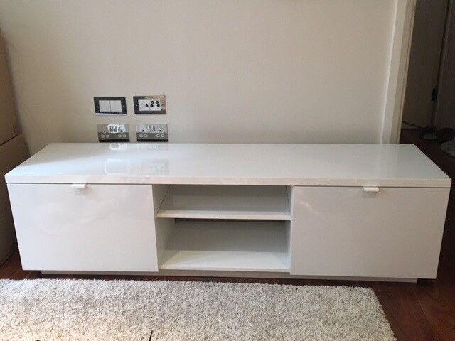 Verwonderlijk Ikea Byas TV bench (160x42x45) high gloss white | in City of ZJ-98