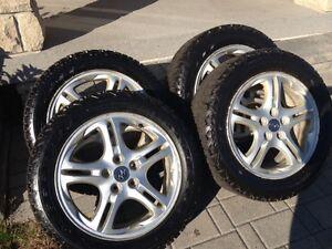 "Staggered winter tires with Hyundai rims p225/50r  p225/55r 17"" Cambridge Kitchener Area image 5"