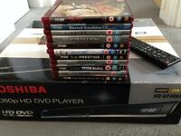 TOSHIBA 1080p HD DVD Player HD-EP30KB with 11 HD-DVD films
