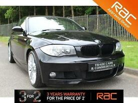 2008 08 BMW 1 SERIES 2.0 123D M SPORT 2D 202 BHP DIESEL