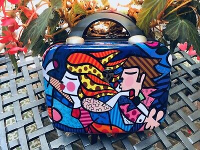 HEYS Britto Collection BLOSSOM Make-up Cosmetic Bag Train Travel Hard Suit Case