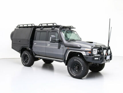 2017 Toyota Landcruiser LC70 VDJ79R MY17 GXL (4x4) Grey 5 Speed Manual Double Cab Chassis Jandakot Cockburn Area Preview