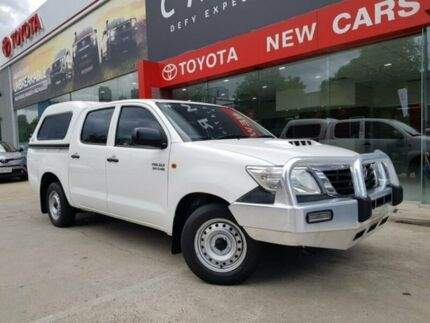2014 Toyota Hilux KUN16R MY14 SR Double Cab 4x2 White 5 Speed Manual Utility Southbank Melbourne City Preview