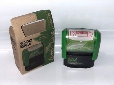 2000 Printer 20 Self-inking Stock Received Rubber Stamp Red Ink Ideal 50 Size