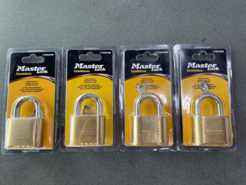 NEW Master Lock 175 Set Your Own Combination Padlock, Brass (Pack of 4)