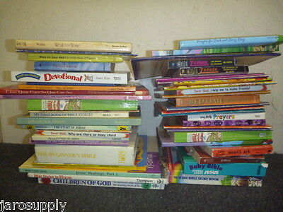 Bible Story Books (Lot of 10 Christian Prayer Bible Jesus Stories Religion Kid Books - MIX)