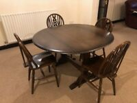 Priory Style Drop Leaf Table And 4 Chairs to match