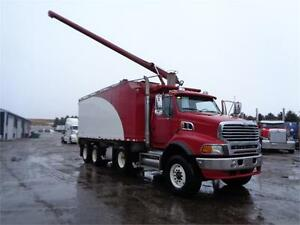 2008 STERLING TRI-AXLE WITH 24'FT WALINGA BULK FEED BODY