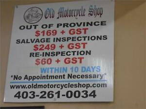 We Can Do Your Out of Province Inspection!!!!