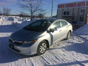 2012 HONDA CIVIC SDN LX -VALID E TEST- LOW KM - CLEAN 4CYL