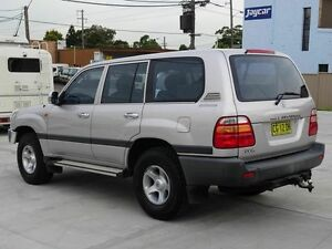 1999 Toyota Landcruiser 105 RV Silver 4 Speed Automatic Wagon Taren Point Sutherland Area Preview