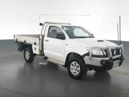 2012 Toyota Hilux KUN26R MY12 SR (4x4) Glacier White 5 Speed Manual Cab Chassis Virginia Brisbane North East Preview