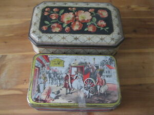 """""""TWO (2) VINTAGE TINS ... 1960's ... VERY GOOD CONDITION!"""""""