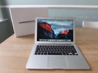 "***IMMACULATE MACBOOK AIR 13.3"" BOXED 2.7GHz i5,4gb RAM, SSD HD,OFFICE 2016, PREMIUM SOFTWARE"