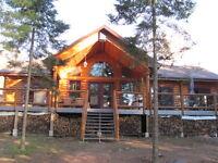 Beautiful Lakefront 4 Season Log Home