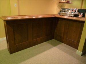 Oak Bar and Side Unit