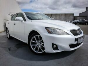 2012 Lexus IS GSE20R MY13 White 6 Speed Sports Automatic Sedan Canning Vale Canning Area Preview