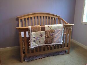 Simmons Solid Birch Convertible Crib
