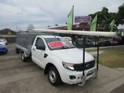2014 Ford Ranger PX XL 2.2 (4x2) White 6 Speed Manual Cab Chassis New Lambton Newcastle Area Preview
