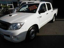 2009 Toyota Hilux KUN16R 09 Upgrade SR White 5 Speed Manual Dual Cab Pick-up Clyde Parramatta Area Preview
