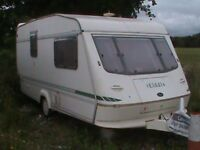 2 Berth Elddis Hurricane Touring Caravan 1996 with motor mover and rear washroom