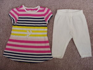 Baby Gap Dress and Leggings Set, Baby Girl Size 0-3 Months