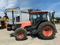 Tracteur Kubota M95x avec une chargeuse a bois Kesla 204T Sherbrooke Québec Preview