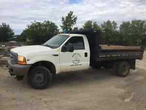 1999 Ford 550 4x4 with 11' x 8' dump Cambridge Kitchener Area image 3