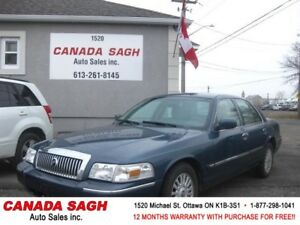 2008 Mercury Grand Marquis LS 102km LOADED!12M.WRTY+SAFETY $5990