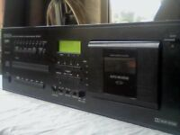 DENON DN-T610F PROFESSIONAL CD & CASSETTE DECK COMBI / COMBO DECK. VERY RARE. TESTED & WORKING.