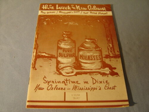 Vintage 1964 This Week In New Orleans Springtime In Dixie Booklet