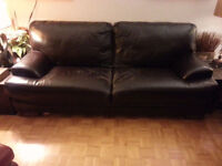 Leather Couch with cushion dammage to repair type Roche Bobois