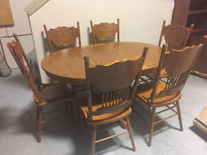 ~~~Brand New Oak Dining Room Table with 6 Chairs