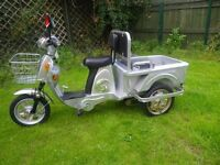 Electric Trike Tricycle Adult Pick Up Utility Or Mobility Scooter No Licence Required as its E-Bike
