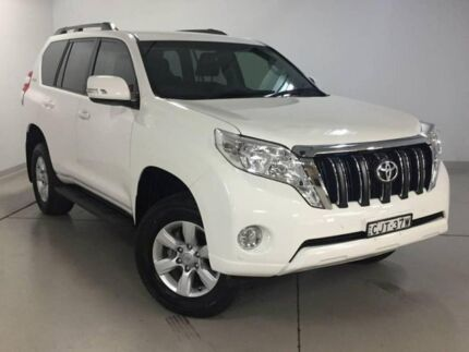 2013 Toyota Landcruiser Prado KDJ150R MY14 GXL White 5 Speed Sports Automatic Wagon Chatswood Willoughby Area Preview
