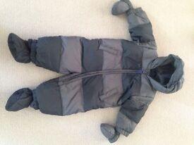 Gap Boys Striped Snowsuit size 6-12months