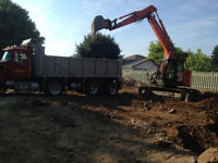 dirt and soil removing with truck,dump truck for hire