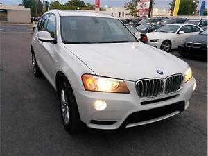 2013 BMW X3 28i, 4X4,Curi, Toit Pano, A/C, Auto' Fog, Mags,2.0L
