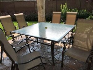 PATIO SET with 8 chairs
