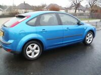 2005 Metallic Blue Ford Focus Zetec Climate 1.6 Hatchback *low mileage*