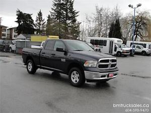 2013 DODGE RAM 1500 ST QUAD CAB SHORT BOX 4X4 ONLY 48,000KM
