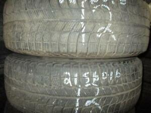 215/60 R16 MICHELIN X-ICE USED TIRES (SET OF 2) - APPROX. 85% TREAD
