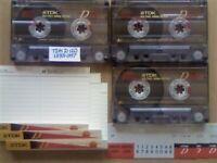 JL CHEAPEST ONLINE 3x TDK D 120 D120 CASSETTE TAPES 1995-1997 W/ CARDS CASES LABELS ALL VGC