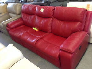 Stylish Leather Couch - Liquidation Priced