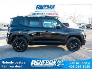 2017 Jeep Renegade 4WD Altitude, Remote Start, Heated Seats, Blu